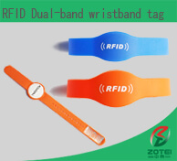 RFID two chips wristband