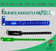 RFID one-time PVC wristband