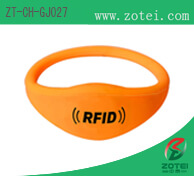 Bold Oblate RFID Silicone Wristband