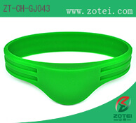 Double Groove Half Round RFID Silicone Wristband
