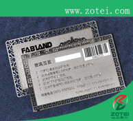 metal barcode card