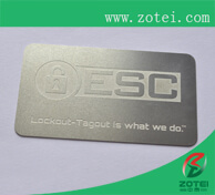 stainless card + laser carving
